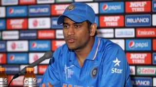 Dhoni hails bowlers for India's victory over UAE in ICC World Cup 2015