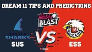 Dream11 Team Sussex vs Essex Match T20 BLAST 2019 2019 T20 Blast – Cricket Prediction Tips For Today's T20 Match SUS vs ESS at Hove