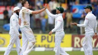 JP Duminy, Vernon Philander celebrate South Africa's win over Sri Lanka