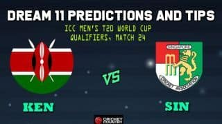 Kenya vs Singapore Dream11 Team ICC Men's T20 World Cup Qualifiers – Cricket Prediction Tips For Today's T20 Match 24 Group A KEN vs SIN at Dubai