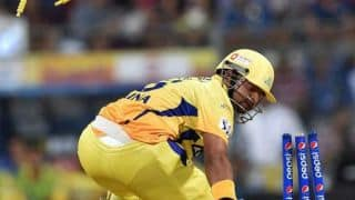 Suresh Raina and Brendon McCullum struggle to score quickly for Chennai Super Kings against Kolkata Knight Riders in IPL 7 match
