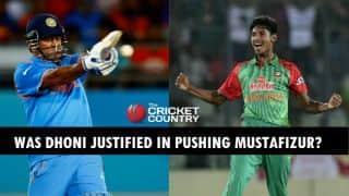 Was MS Dhoni right in pushing Mustafizur Rahman aside?