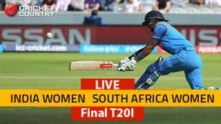 Live Cricket Score, India Women vs South Africa Women, 5th T20I: Smriti departs for 13