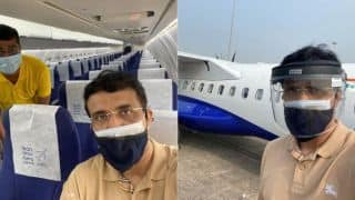 BCCI President Sourav Ganguly arrived in Dubai to see IPL 2020 preparations