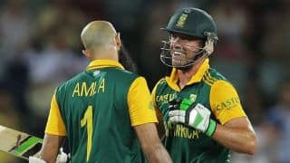 """AB de Villiers hails Hashim Amla South Africa's """"rock"""" after crushing win against Ireland in ICC Cricket World Cup 2015"""