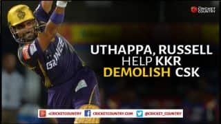 Robin Uthappa, Andre Russell help Kolkata Knight Riders demolish Chennai Super Kings by 7 wickets in IPL 2015 Match 30