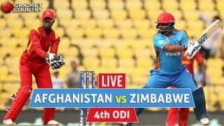 Live Cricket Score, AFG vs ZIM, 4th ODI at Harare: AFG lose Rahmat