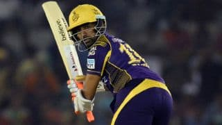 KKR lose Uthappa early in chase of 163 vs Sunrisers