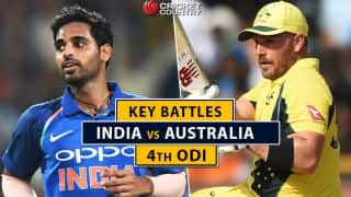 India vs Australia, 4th ODI: Bhuvneshwar Kumar vs Aaron Finch and other key battles
