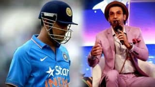 Ranveer Singh's Tweet on MS Dhoni will win your heart