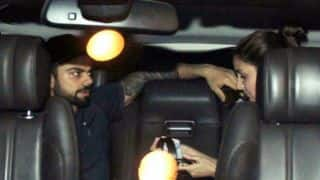 VIDEO: Kohli and Anushka spotted hugging at Mumbai Airport