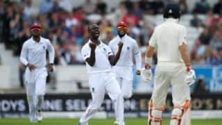 Kemar Roach's 5-for bundles England for 194; West Indies trail by 71 runs on Day 2 of 3rd Test