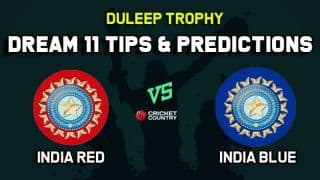IN-R vs IN-B Dream11 Team India Red vs India Blue Duleep Trophy 2019 – Cricket Prediction Tips For Today's Match at Bengaluru