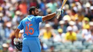 Rohit Sharma's unbeaten 98 guides India to 185 for 5 against West Indies in ICC World T20 2016 warm-up match at Eden Gardens