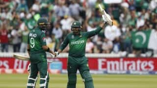 Cricket World Cup 2019: Haris Sohail, Babar Azam fifties help Pakistan to 308 vs South Africa at Lord's