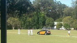 Cricket match halted in Australia as cab driver parks his car in middle of pitch