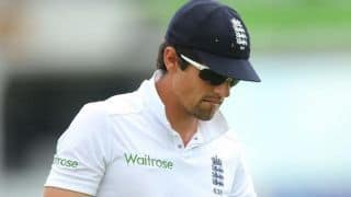 Alastair Cook gets emotional in his final Test match