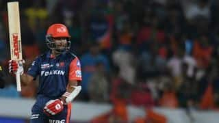 Indian Premier League 2018, Match 36: Sunrisers Hyderabad restrict Delhi Daredevils to 163 for 5 after Prithvi Shaw's onslaught