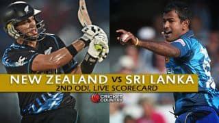 Live Cricket Scorecard: New Zealand vs Sri Lanka 2015-16, 2nd ODI at Christchurch
