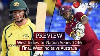 WI vs AUS, Tri-Nation Series 2016 Final: Predictions and Preview