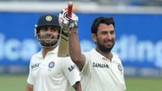 India vs Australia, 1st Test at Adelaide Oval, Day 3: Cheteshwar Pujara, Virat Kohli put on 50-run partnership