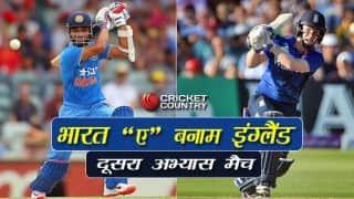 दूसरे अभ्यास मैच में भारत ए ने इंग्लैंड को 6 विकेट से हराया