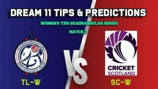 Dream11 Team Thailand women vs Scotland women Match WOMEN'S T20I QUADRANGULAR SERIES 2019 – Cricket Prediction Tips For Today's T20 Match TL-W vs SC-W at Deventer