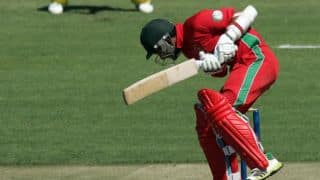 Sikandar Raza dismissed for 36 by Anwar Ali against Pakistan in 1st ODI at Lahore
