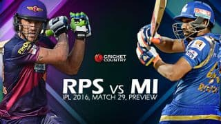 RPS vs MI, IPL 2016, Match 29 at Pune, Preview: Rampant MI face wounded RPS