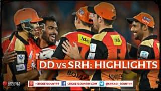 Delhi Daredevils vs Sunrisers Hyderabad, IPL 2015 Match 45: Moises Henriques's calm innings, Kedar Jadhav's pyrotechnics and other highlights