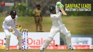 Sarfraz Ahmed leads Pakistan's fightback at Lunch on Day 4 of 1st Test against Sri Lanka at Galle