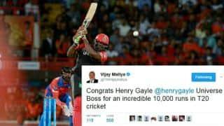 Chris Gayle brings up 10,000 T20 runs: Twitter reactions