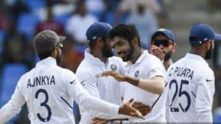 1st Test: Jasprit Bumrah, Ishant Sharma leave West Indies reeling in Antigua
