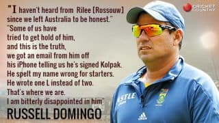 'Bitterly disappointed' Russell Domingo lashes out at Rilee Rossouw