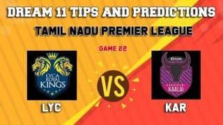 Dream11 Team Lyca Kovai Kings vs Idream Karaikudi Kaalai Match 22 TNPL 2019 TAMIL NADU T20 – Cricket Prediction Tips For Today's T20 Match LYC vs KAR at Chennai