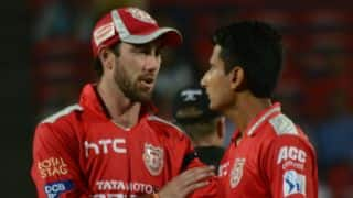 RR vs KXIP, IPL 2015: Shaun Marsh dismissed for 65 by Glenn Maxwell