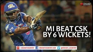 Mumbai Indians beat Chennai Super Kings by 6 wickets in IPL 2015