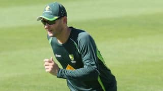 Michael Clarke walks into celebration practice