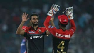 Harshal Patel's 3 for 43, Virat Kohli's fifty and other highlights from Delhi Daredevils (DD) vs Royal Challengers Bangalore (RCB), IPL 2017, match 56