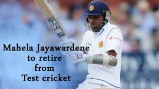 Mahela Jayawardene to retire from Test cricket after series against South Africa, Pakistan