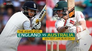 AUS 287/3 | Live Cricket Score England vs Australia, Ashes 2015, 5th Test, Day 1: Smith, Voges lead AUS charge