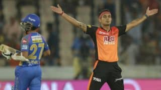 Indian T20 League 2018, Match 4: Hyderabad's all-round bowling restricts Rajasthan to 125 for 9