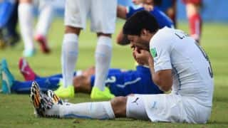 Luis Suarez bite shows cricket in pearly whites
