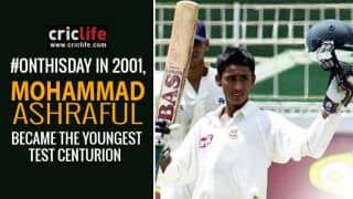 Mohammad Ashraful becomes the youngest Test centurion