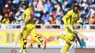 3rd ODI: Finch-Khawaja stand sets base for Australia's 313