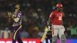KXIP vs KKR LIVE: Powerplay update - Sandeep Warrier's double-strike reduces Kings XI Punjab to 41/2 in six overs vs Kolkata Knight Riders