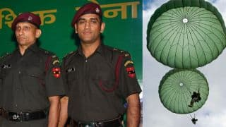 MS Dhoni reports at 50th Parachute Brigade in Agra to train for para jump