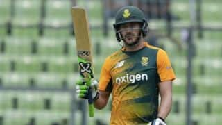 Faf du Plessis fined for showing dissent at an umpire's decision during 4th ODI vs India