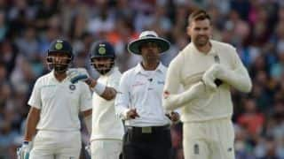 5th Test: James Anderson facing fine for showing dissent