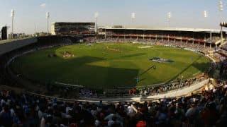 Gujarat Cricket Association office bearers lay foundation stone for world's biggest cricket stadium